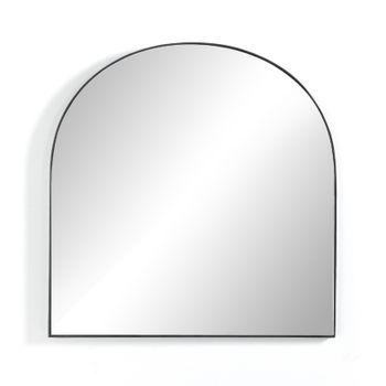 Georgina Wide Mirror - Matte Black