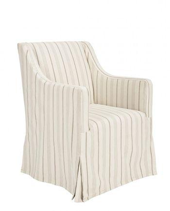 "Sandra Slipcsover Chair, 25.6"" X 35.6"", Sandra Slipcsover Chair/Beige/Java"