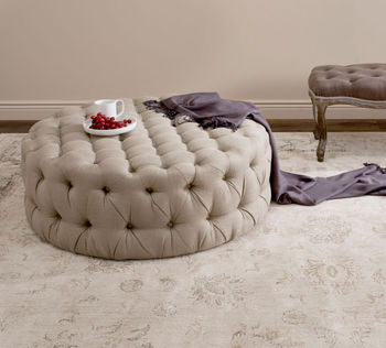 """Charlene Tufted Cocktail Ottoman, 39.4"""" X 16.1"""", Antique Gold"""