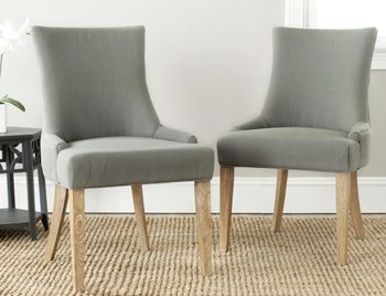 """Lester 19''H Chevron Dining Chair, 22"""" X 36.4"""", Set Of 2"""