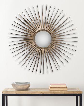 "Shanira Mirror, 33.5"" X 1"", Gold"