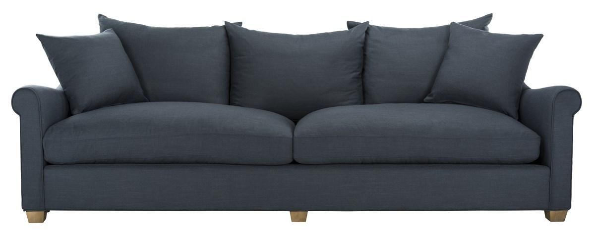 """Fraiser Navy Linen Sofa, 104"""" X 34"""""""