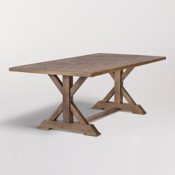 """Bryant 84"""" Dining Table In Brindled Ash"""
