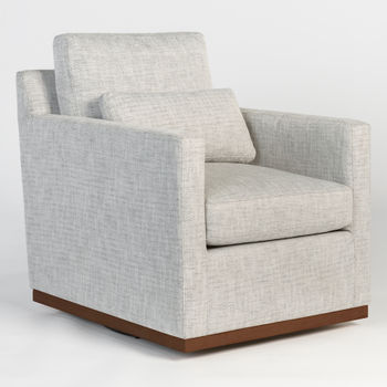 Denton Swivel Occasional Chair In Peppered Slate