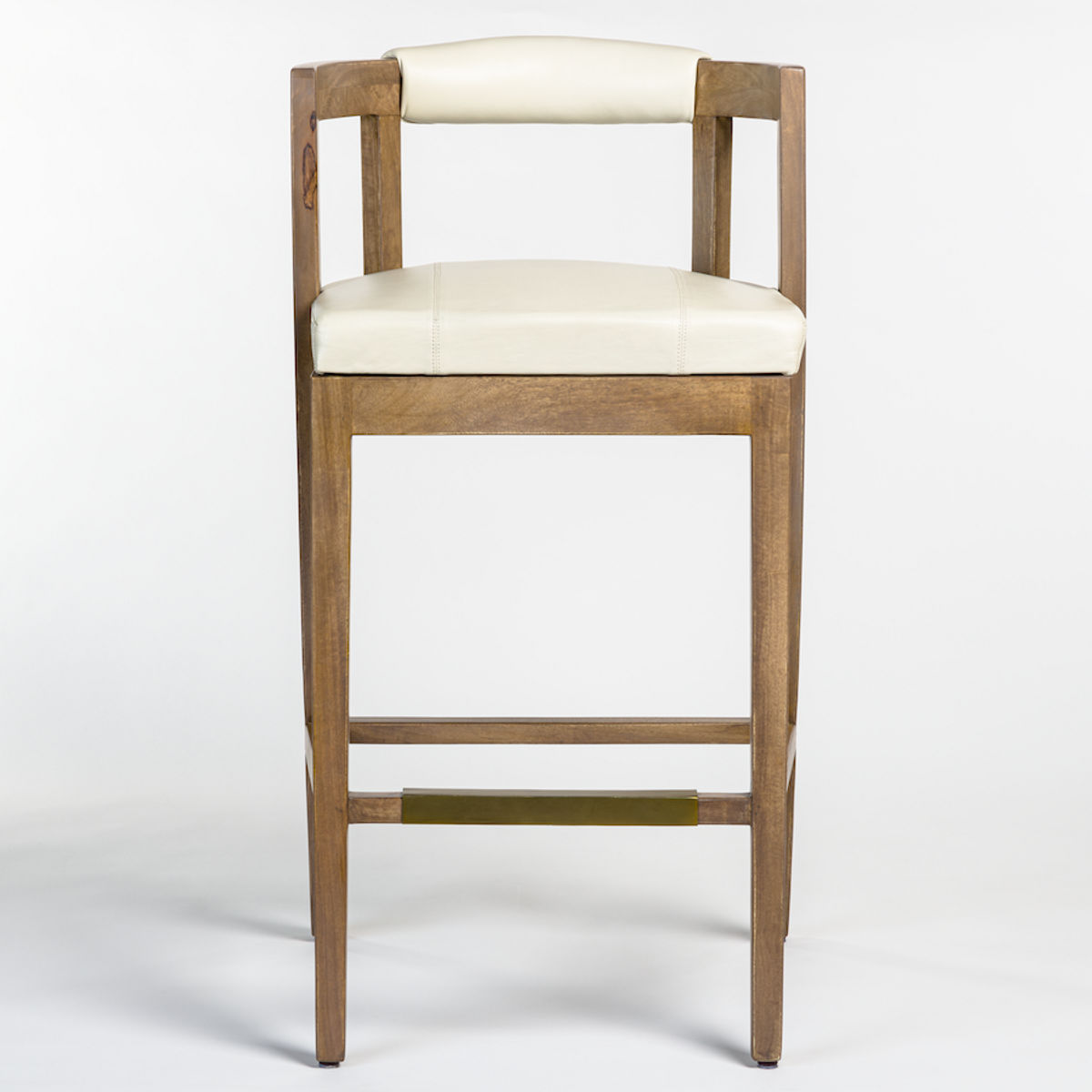 Milan Counter Stool In Dover White And Misted Ash