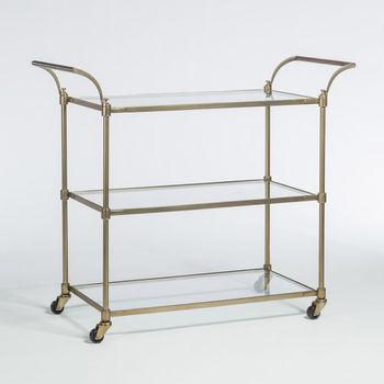 Wakefield Bar Cart In Antique Brass
