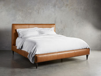"""Andes Leather 52"""" King Bed"""