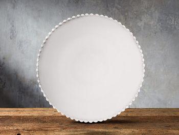 Avignon White Dinner Plate Set With Pearl Trim