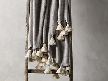 Marled Grey Knit Throw