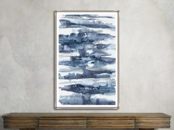 "Pools Of Blue 40""X 62"" Print 2"