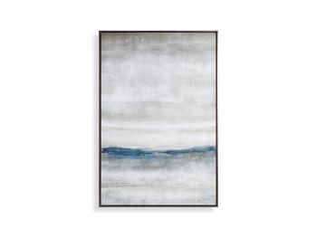 "Rain At Sea 40"" X 60"" Framed Print"