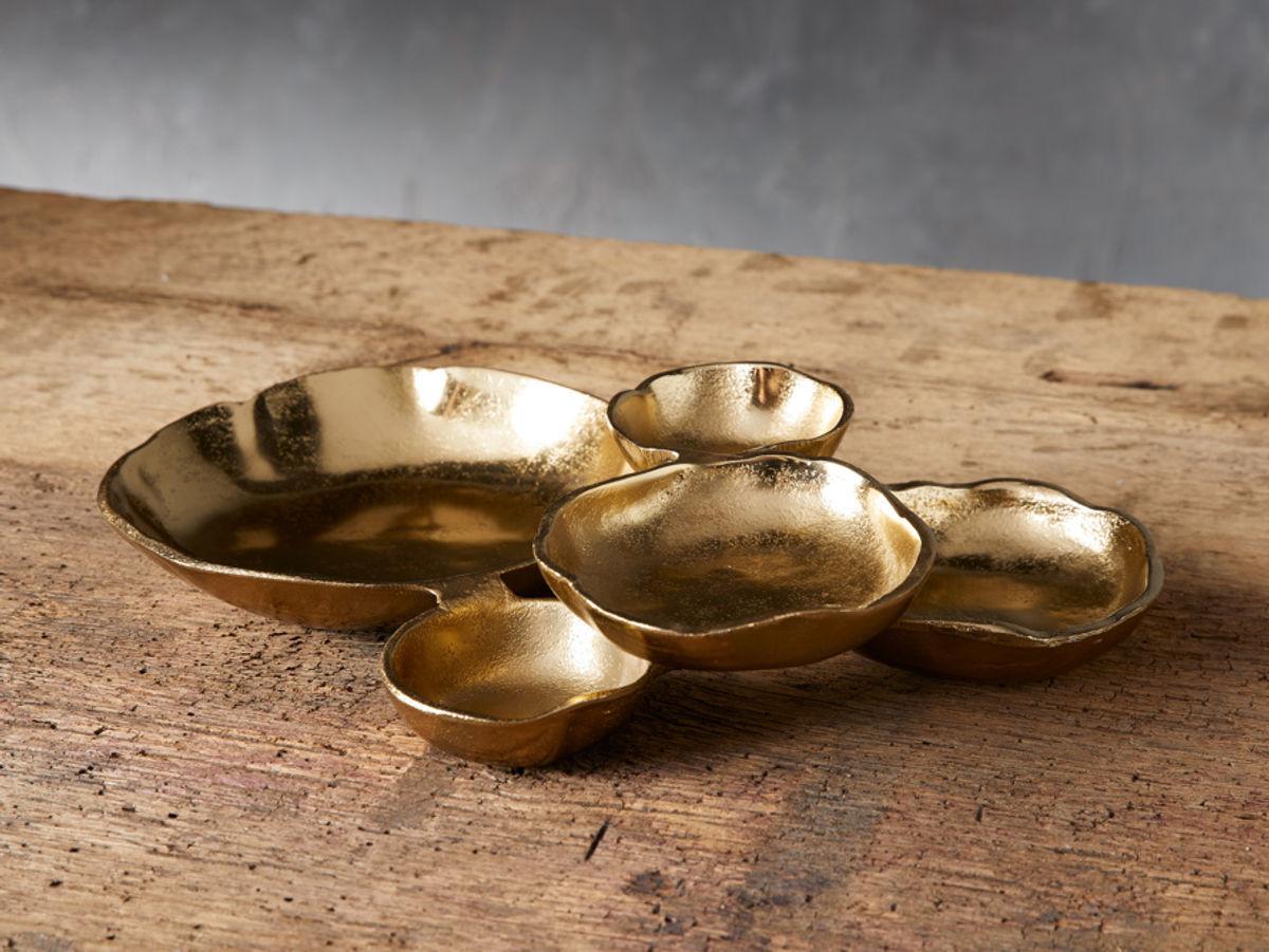 Small Klasa Platter In Dark Gold