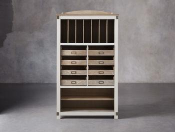 Telegraph Storage Cabinet In Acacia White