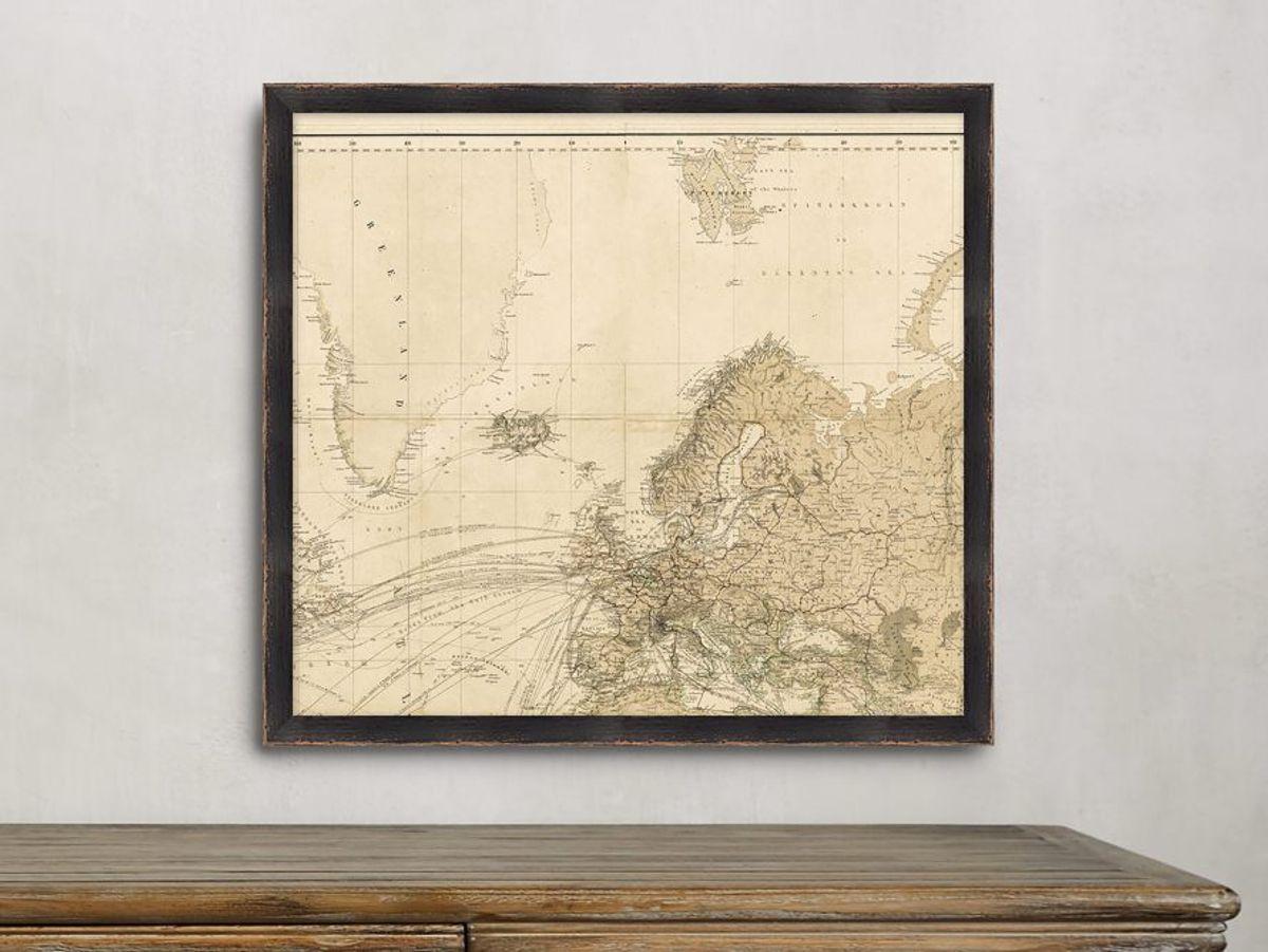 World Map Gallery Print 2