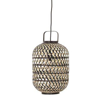 Hand-Woven Bamboo Pendant Lamp, 6' Cord (60 Watt Bulb Maximum)