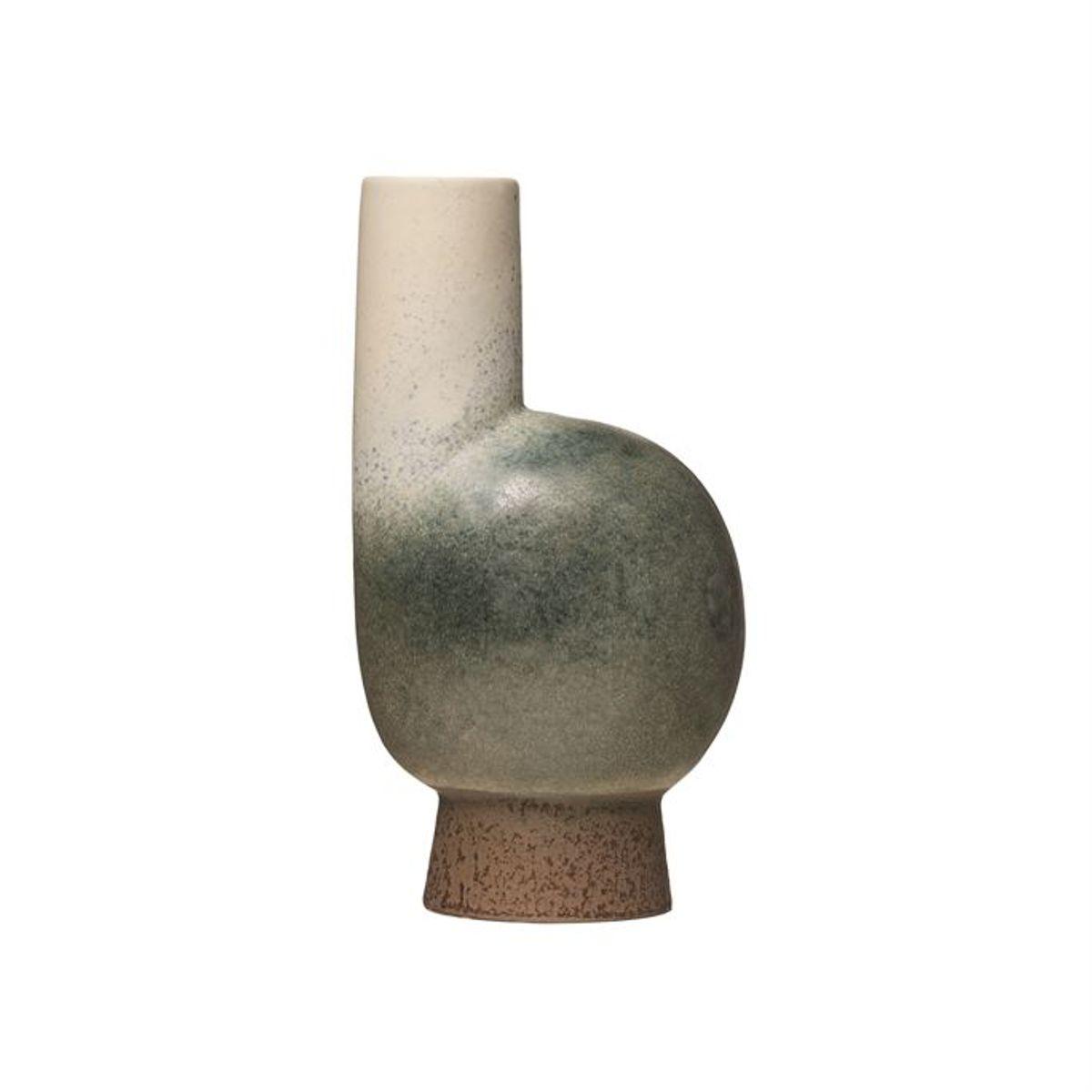 Stoneware Vase, Reactive Glaze, Multi Color