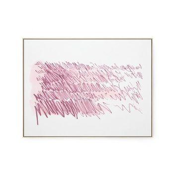 Agean Diary Framed Silk Panel, Purple