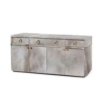 Andre 3-Drawer & 4-Door Cabinet, Gray