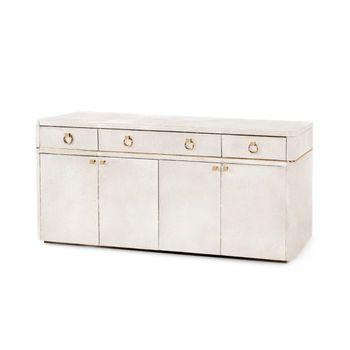 Andre 3-Drawer & 4-Door Cabinet, White