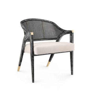Edward Lounge Chair, Black