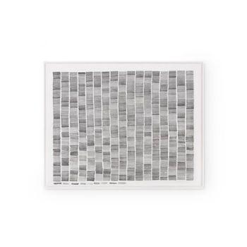 Rain Framed Silk Panel, Black