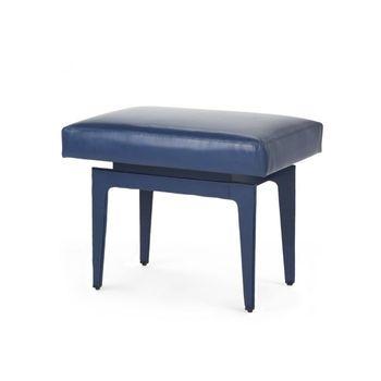 Winston Stool, Navy Blue Leather