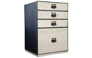 Dashing 4 Drawer Reclaimed Lumber, W/File