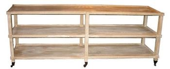 Reclaimed Lumber Lilia Console W/ Casters