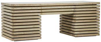 Reclaimed Lumber Milo Desk, 4 Sm Drws, 2 File Drws