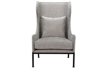 Tall Allende Chair Steel Frame W/ One Pillow