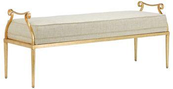 Genevieve Shimmer Gold Bench