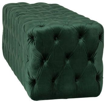 Grace Tufted Bench, Forest Green Velvet