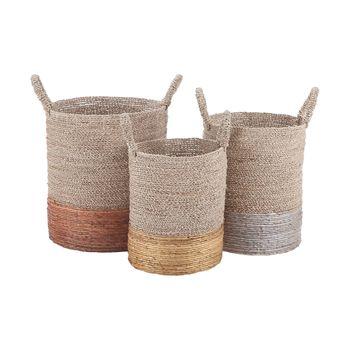 Archipelago Mixed Metallics Nested Baskets (Set Of 3)