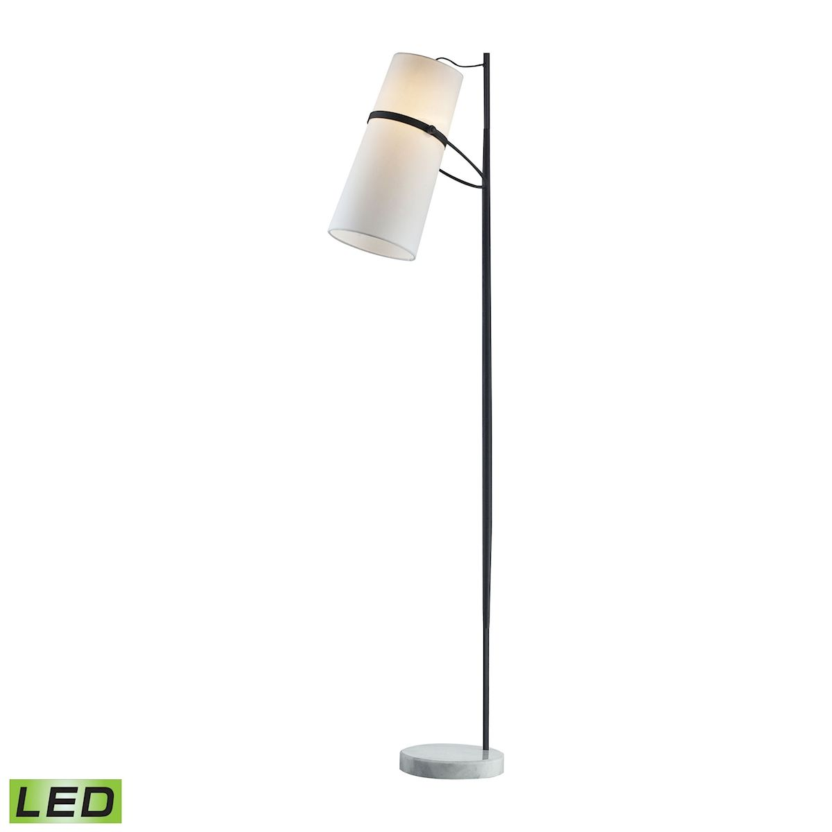 Banded Shade Floor Lamp - Led