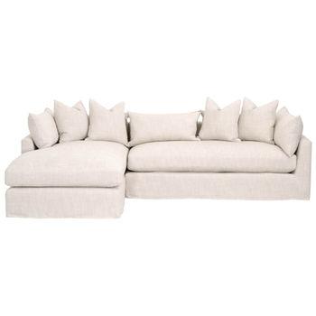 "Haven 110"" Lf Lounge Slipcover Sofa"