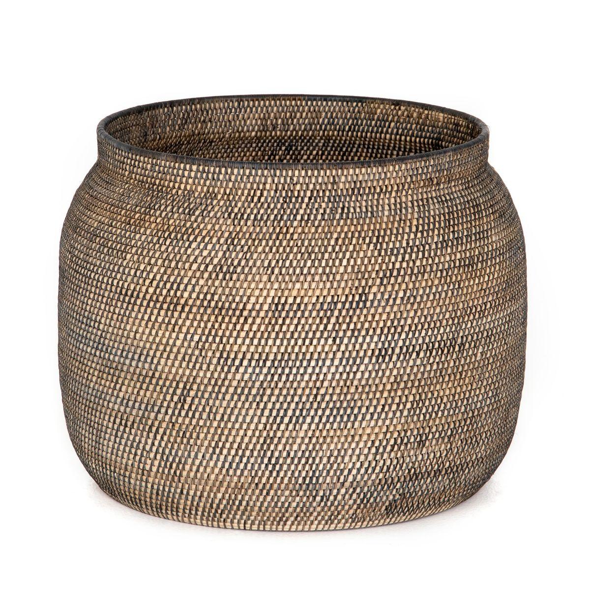 Ansel Contrast Black Basket