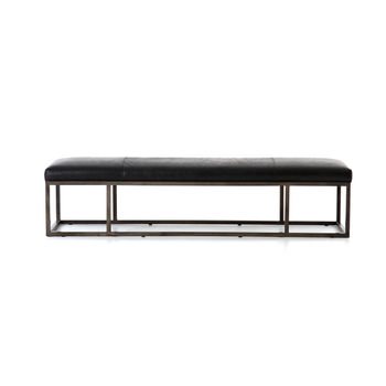 Beaumont Leather Bench-Rider Black