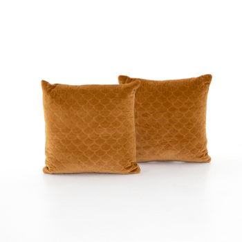 """Bly Velvet Pillow, Set Of 2-20""""-Marigold"""