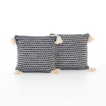 "Briella Pillow, Set Of 2-20""-Navy/Blue"