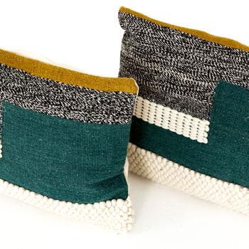 "Color Block Pillow, Set Of 2-16X24"""