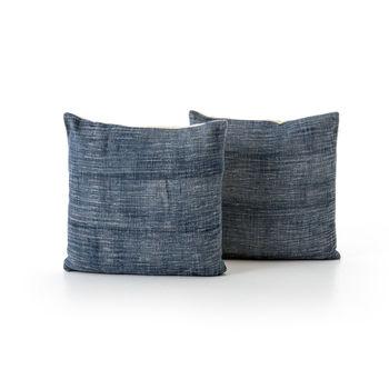"""Faded Blue Haze Pillow, Set Of 2-20X24"""""""