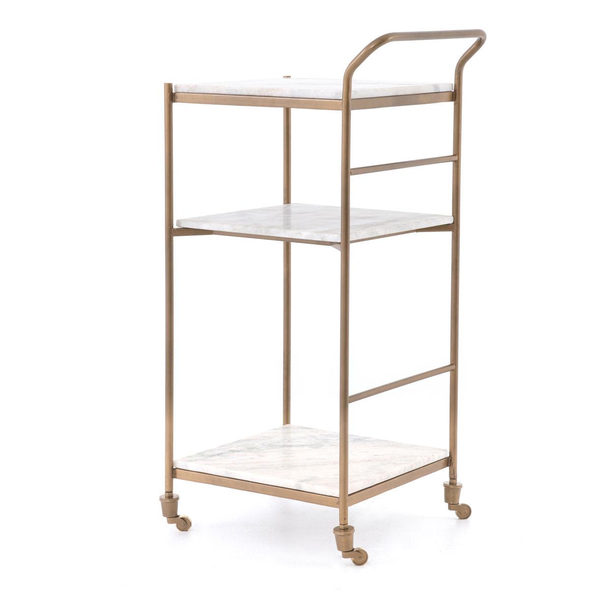 Felix Bar Cart-Antique Brass