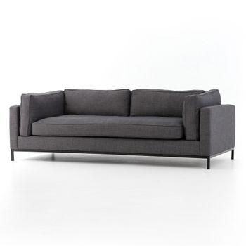 """Grammercy Sofa-91""""-Bennett Charcoal"""