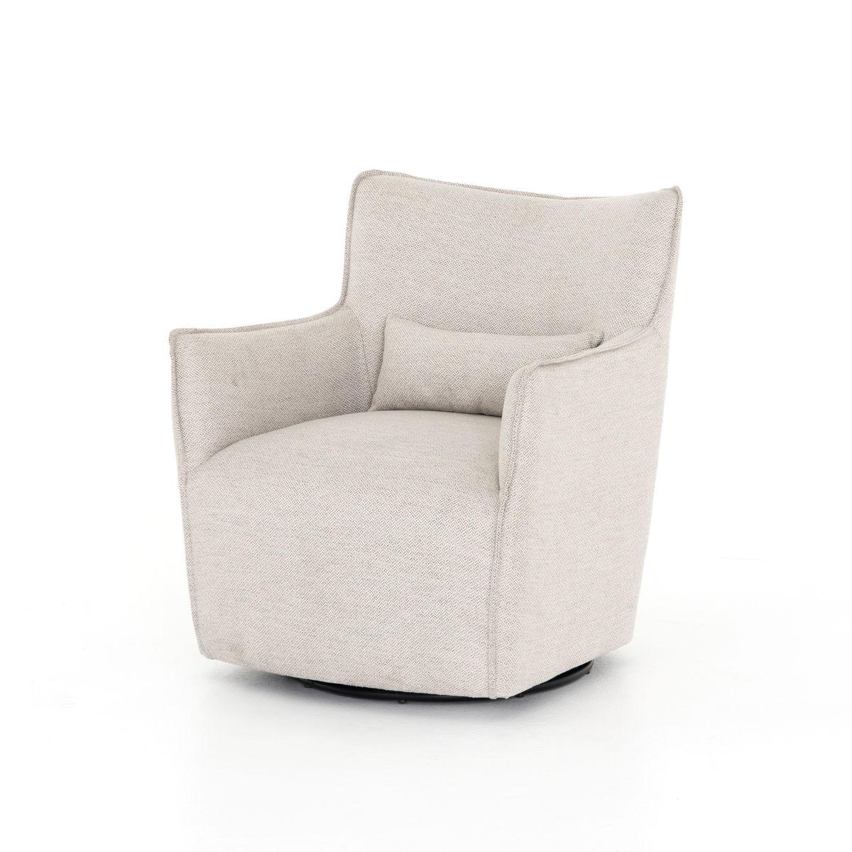 Kimble Swivel Chair-Noble Platinum