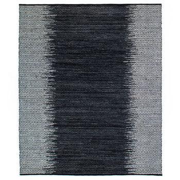 Leather Woven Diamond Rug, 9X12'