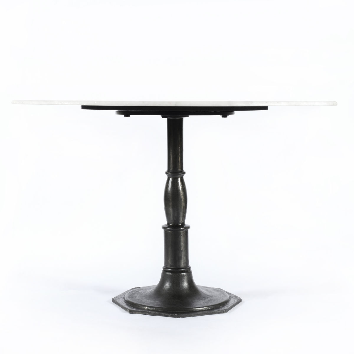 Lucy Round Dining Table-Marble/Carbo