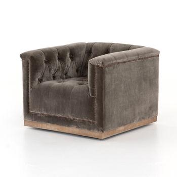 Maxx Swivel Chair-Sapphire Birch
