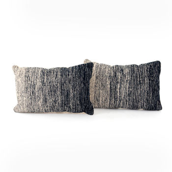 """Midnight Ombre Pillow, Set Of 2-16X24"""""""