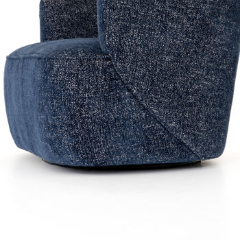Mila Swivel Chair in Comal Azure