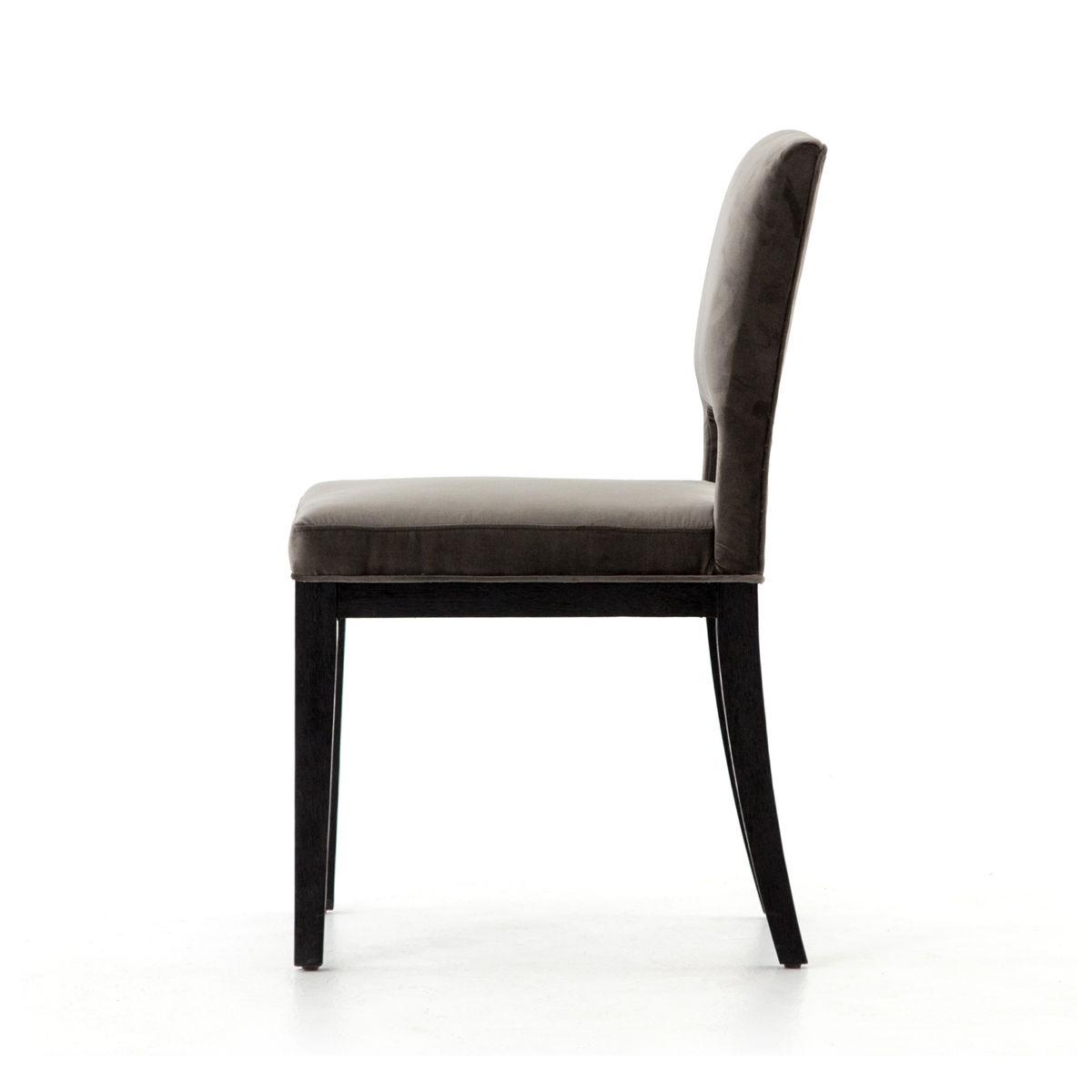 Sara Dining Chair-Washed Velvet Grey